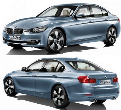 Présentation de la nouvelle génération de BMW Série 3 (nom de code: F30). Une évolution stylistique en douceur, marquée par une face avant plus plongeante, plus affinée.  De gros progrès ont été faits sur les motorisations, avec des puissances en hausse et des consommations de carburant en nette baisse.